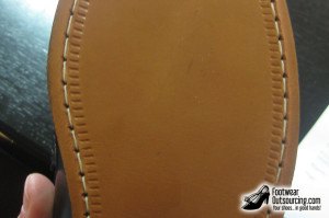 A Goodyear sole, stitched with a thread